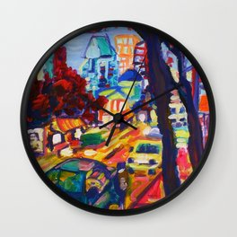 Rushing From Downtown Wall Clock