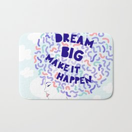 'Dream Big' Girl Power Portrait Bath Mat