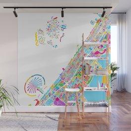 Dubai Colorful Vector Map Wall Mural