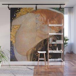 Danae Portrait Painting by Gustav Klimt Wall Mural