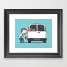 Family Car Sticker Framed Art Print
