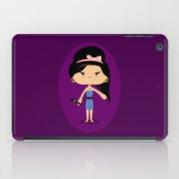 amy hamilton iPad Cases featuring Amy by Sombras Blancas Art & Design