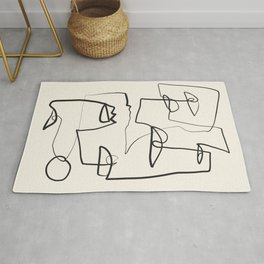 Abstract line art 12 Rug