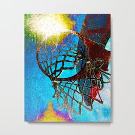 Colorful basketball art print vs 177 Metal Print