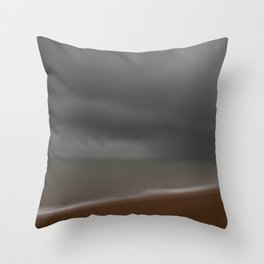 Storm in the Channel Throw Pillow