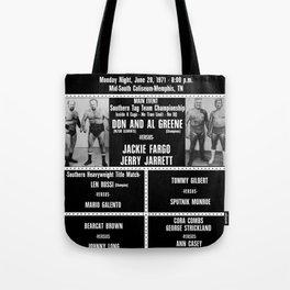 #14-B Memphis Wrestling Window Card Tote Bag