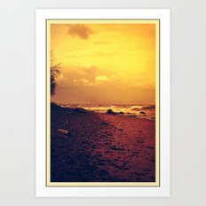 Sunset on the Lake Art Print