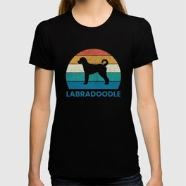 Vintage Labradoodle Silhouette Gift T-shirt