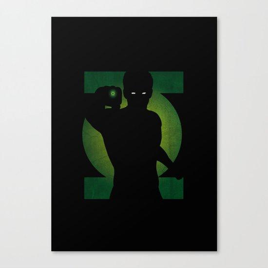 SuperHeroes Shadows : Green Lantern Canvas Print