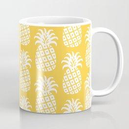 Mid Century Modern Pineapple Pattern Yellow 4 Coffee Mug