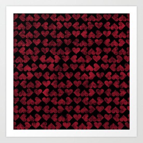 Colorful Love Pattern XV Art Print