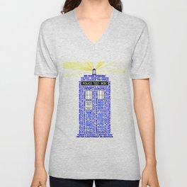 Doctor Who TARDIS Words of Wisdom Unisex V-Neck