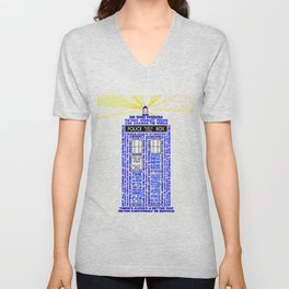 Doctor Who TARDIS Words of Wisdom Unisex V-Neck