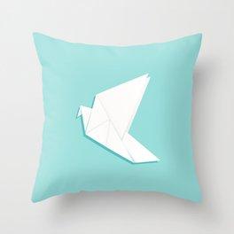 Origami pigeon Throw Pillow
