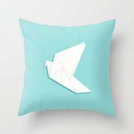 Origami pigeon Throw Pillow