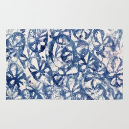 Organic Abstract in Blue Rug