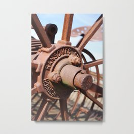 Wheel Hub Metal Print