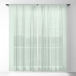Pastel Pale Spring Green Solid Color Parable to Minty Fresh 6002-7A by Valspar Sheer Curtain