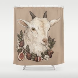 Goat And Figs Shower Curtain