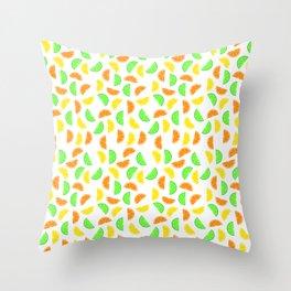 Citrus Fruits, Lemons, Limes and Oranges Throw Pillow