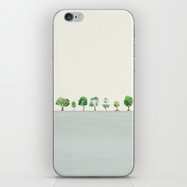A Row Of Trees iPhone Skin