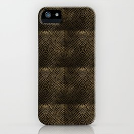Golden Chainmaille Quilt iPhone Case
