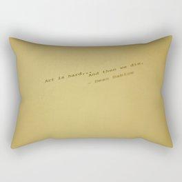 art is hard... Rectangular Pillow