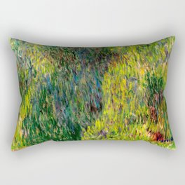 Monet : Woman with a Parasol Rectangular Pillow