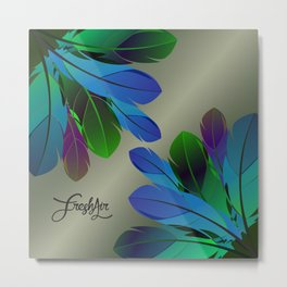 FEATHERY Metal Print