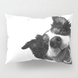 Black and White Happy Dog Pillow Sham