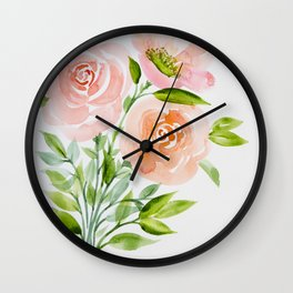 Busy Bouquet Wall Clock