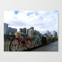 Bicycles. Canvas Print