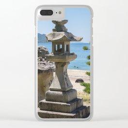 Shrine on a Japanese beach Clear iPhone Case