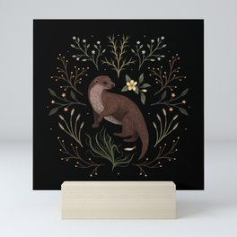 Fishing Otter Mini Art Print