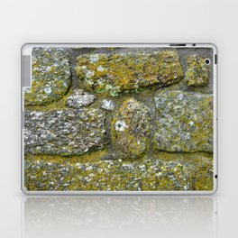 Old granite wall with grey and green colors Laptop & iPad Skin