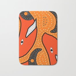 Whales - aboriginal Bath Mat