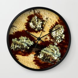 BUTTERFLY MAGNIFIED - ANTEROS FOMOSUS Wall Clock