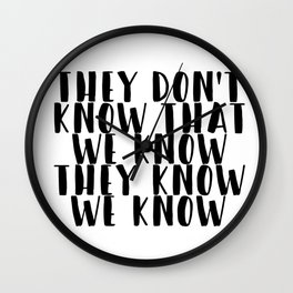 Friends - TV Show Quote Wall Clock