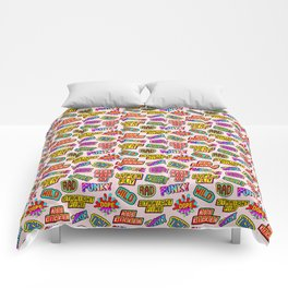 Funky pattern #08 (dope, straight fire, funky, hot, deal with it, crazy, awesome, etc) Comforters