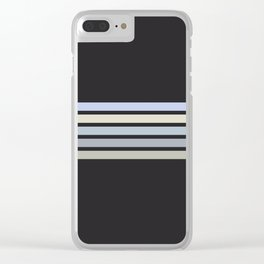 Colorful Stripes Black VI Clear iPhone Case