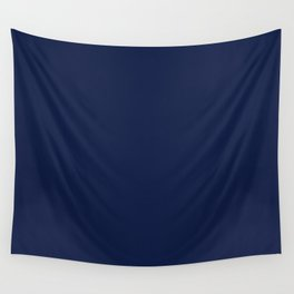 Navy Blue Minimalist Solid Color Block Wall Tapestry