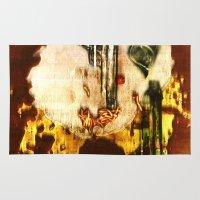 ramen Area & Throw Rugs featuring ramen by meredith w ochoa