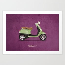 Vespa LXV Art Print