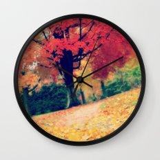 Fall stroll  Wall Clock