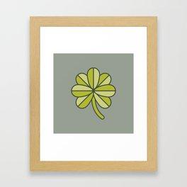 Seven-Leaf Clover Framed Art Print