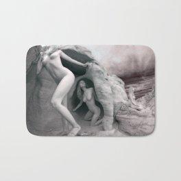 6228 BW Three Desert Art Nude Women Among Rocks Bath Mat
