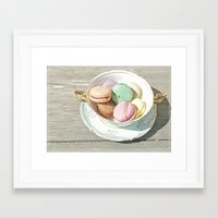 macarons Framed Art Prints featuring Macarons by Catching Sundust