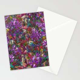 Floral Abstract Stained Glass G175 Stationery Cards