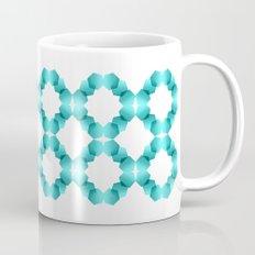 Dancing Hexagons in Blue Mug