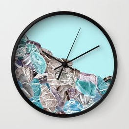 Turquoise Sea Stones Wall Clock